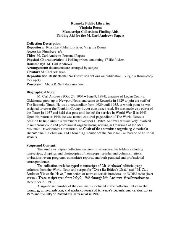 Andrews, M. Carl, Papers of.pdf
