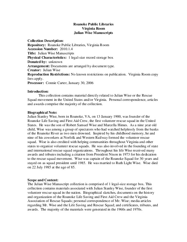 Wise, Julian Papers.pdf