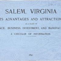 Salem, Virginia: Its Advantages and Attractions