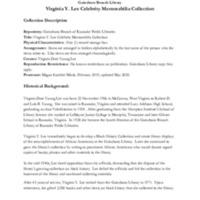 A Guide to the Virginia Y. Lee Celebrity Memorabilia Collection