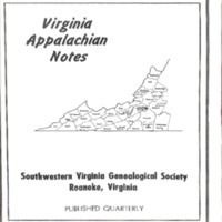 Virginia Appalachian Notes, Volume 1, Number 4