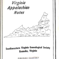 Virginia Appalachian Notes, Volume 2, Number 2
