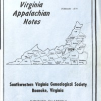 Virginia Appalachian Notes, Volume 3, Number 1