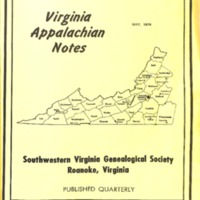 Virginia Appalachian Notes, Volume 3, Number 2
