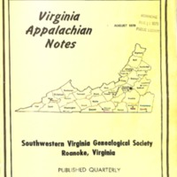 Virginia Appalachian Notes, Volume 3, Number 3