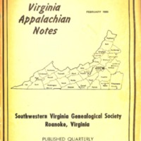 Virginia Appalachian Notes, Volume 4, Number 1