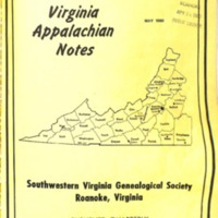 Virginia Appalachian Notes, Volume 4, Number 2