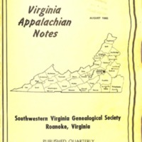 Virginia Appalachian Notes, Volume 4, Number 3