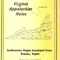 Virginia Appalachian Notes, Volume 4, Number 4
