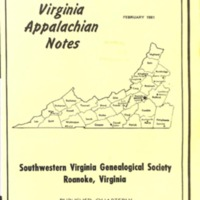 Virginia Appalachian Notes, Volume 5, Number 1