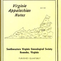 Virginia Appalachian Notes, Volume 5, Number 2