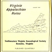 Virginia Appalachian Notes, Volume 5, Number 3