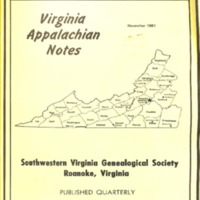 Virginia Appalachian Notes, Volume 5, Number 4