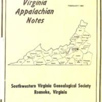 Virginia Appalachian Notes, Volume 7, Number 1