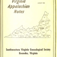 Virginia Appalachian Notes, Volume 7, Number 3