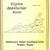 Virginia Appalachian Notes, Volume 7, Number 4