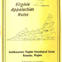Virginia Appalachian Notes, Volume 8, Number 3