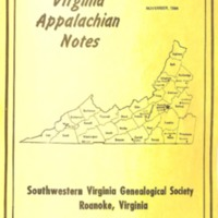 Virginia Appalachian Notes, Volume 8, Number 4