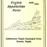 Virginia Appalachian Notes, Volume 9, Number 2