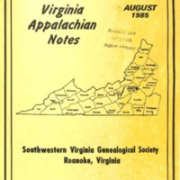 Virginia Appalachian Notes, Volume 9, Number 3