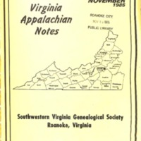 Virginia Appalachian Notes, Volume 9, Number 4