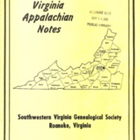 Virginia Appalachian Notes, Volume 10, Number 2