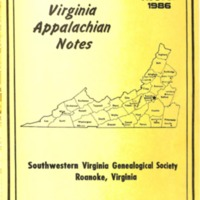 Virginia Appalachian Notes, Volume 10, Number 3