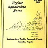 Virginia Appalachian Notes, Volume 10, Number 4