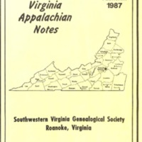 Virginia Appalachian Notes, Volume 11, Number 1