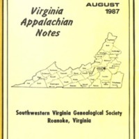 Virginia Appalachian Notes, Volume 11, Number 3