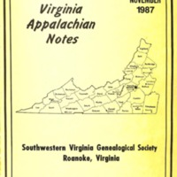 Virginia Appalachian Notes, Volume 11, Number 4