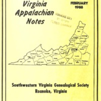Virginia Appalachian Notes, Volume 12, Number 1