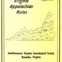 Virginia Appalachian Notes, Volume 12, Number 3