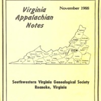 Virginia Appalachian Notes, Volume 12, Number 4