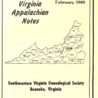 Virginia Appalachian Notes, Volume 13, Number 1