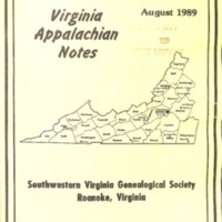 Virginia Appalachian Notes, Volume 13, Number 3