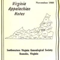 Virginia Appalachian Notes, Volume 13, Number 4
