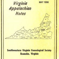Virginia Appalachian Notes, Volume 14, Number 2