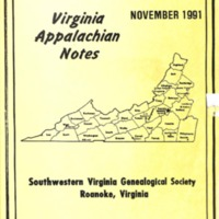 Virginia Appalachian Notes, Volume 15, Number 4