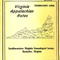 Virginia Appalachian Notes, Volume 16, Number 1