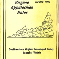 Virginia Appalachian Notes, Volume 16, Number 3