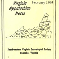 Virginia Appalachian Notes, Volume 17, Number 1