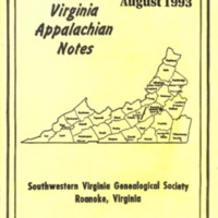 Virginia Appalachian Notes, Volume 17, Number 3