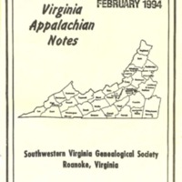 Virginia Appalachian Notes, Volume 18, Number 1