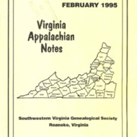 Virginia Appalachian Notes, Volume 19, Number 1