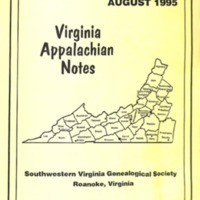 Virginia Appalachian Notes, Volume 19, Number 3
