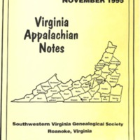 Virginia Appalachian Notes, Volume 19, Number 4