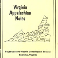 Virginia Appalachian Notes, Volume 20, Number 1