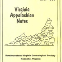 Virginia Appalachian Notes, Volume 20, Number 2