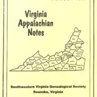 Virginia Appalachian Notes, Volume 20, Number 3